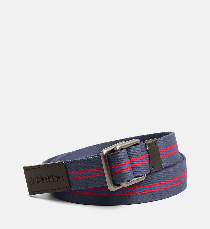 CALVIN KLEIN Webbing Belt - DARK RED - CALVIN KLEIN WOMEN - main image