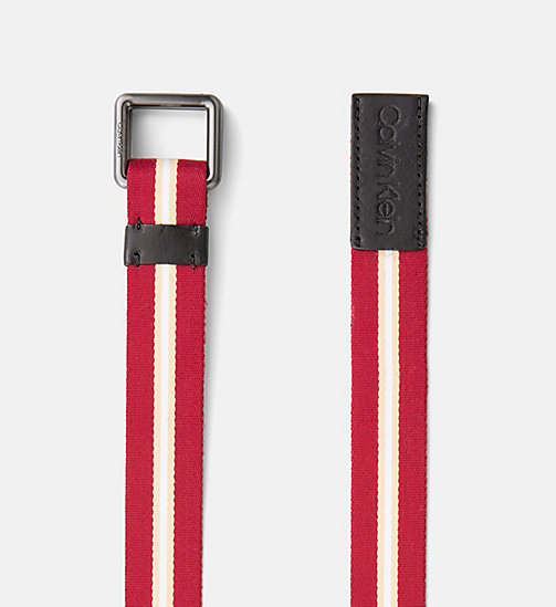 CALVINKLEIN Webbing Belt - DARK RED - CALVIN KLEIN NEW IN - detail image 1