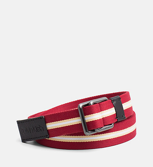 CALVINKLEIN Webbing Belt - DARK RED - CALVIN KLEIN SHOES & ACCESSORIES - main image