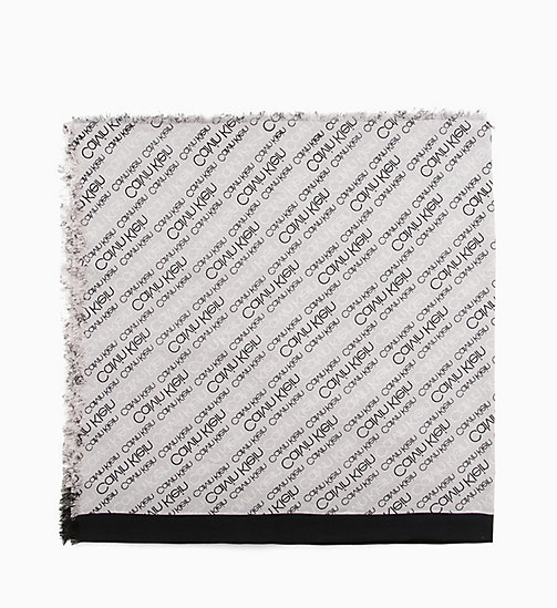CALVINKLEIN Logo Scarf - LIGHT GREY - CALVIN KLEIN MEN - main image