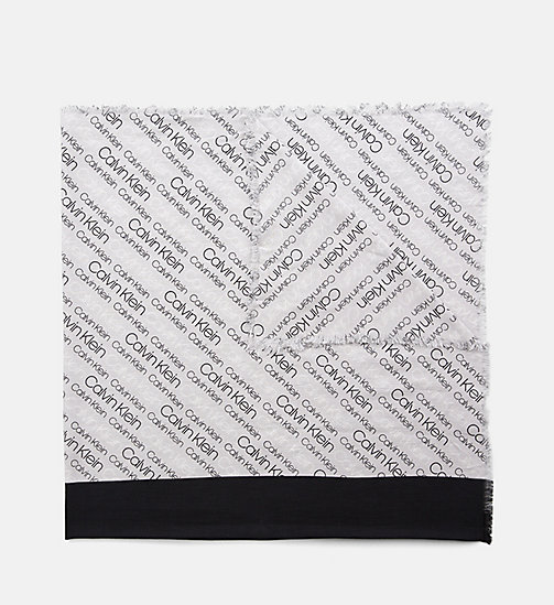 CALVINKLEIN Logo Scarf - LIGHT GREY - CALVIN KLEIN NEW IN - main image