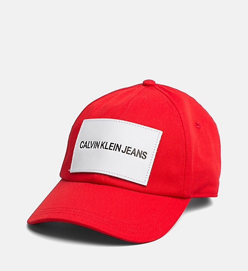 CALVIN KLEIN JEANS Twill Baseball Cap - RED - CALVIN KLEIN JEANS NEW IN - main image