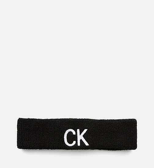 CALVIN KLEIN JEANS Head Sweatband - BLACK BEAUTY - CALVIN KLEIN JEANS NEW IN - main image