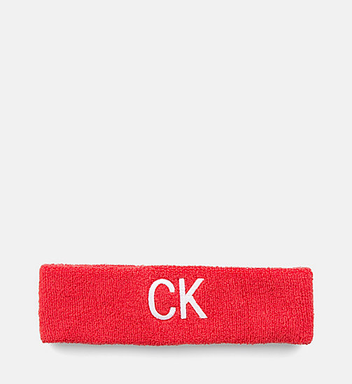 CALVIN KLEIN JEANS Head Sweatband - RED - CALVIN KLEIN JEANS NEW IN - main image