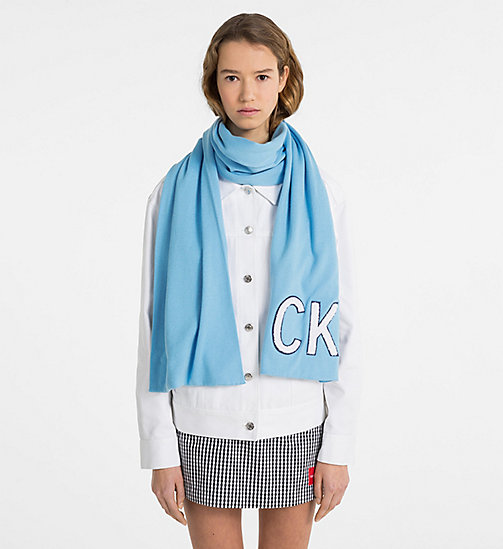 CALVIN KLEIN JEANS Knit Scarf - SKY BLUE - CALVIN KLEIN JEANS NEW IN - detail image 1