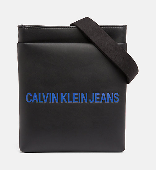 CALVIN KLEIN JEANS Logo Flat Crossover - BLACK - CALVIN KLEIN JEANS PACK YOUR BAG - main image
