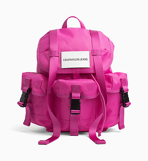 CALVIN KLEIN JEANS Medium Backpack - WILD ORCHID - CALVIN KLEIN JEANS HIS AND HERS - main image