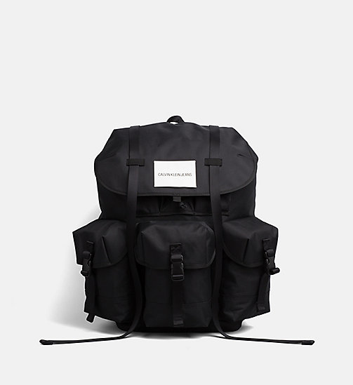 CALVIN KLEIN JEANS Large  Backpack - BLACK - CALVIN KLEIN JEANS HIS AND HERS - main image
