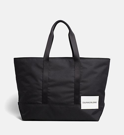 CALVIN KLEIN JEANS Large Tote Bag - BLACK - CALVIN KLEIN JEANS HIS AND HERS - main image