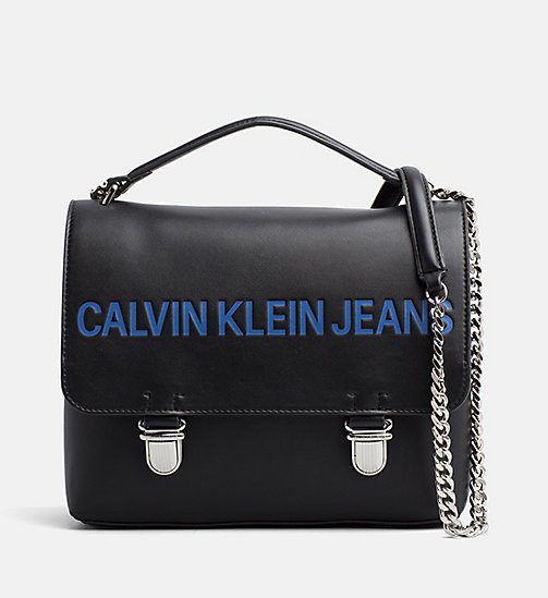 CALVIN KLEIN JEANS Logo Flap Cross Body Bag - BLACK - CALVIN KLEIN JEANS PACK YOUR BAG - main image
