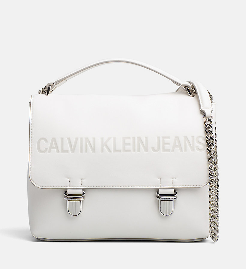 CALVIN KLEIN JEANS Logo Flap Cross Body Bag - BLACK - CALVIN KLEIN JEANS WOMEN - main image