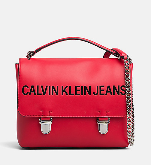 CALVIN KLEIN JEANS Logo Flap Crossover - SCARLET - CALVIN KLEIN JEANS PACK YOUR BAG - main image