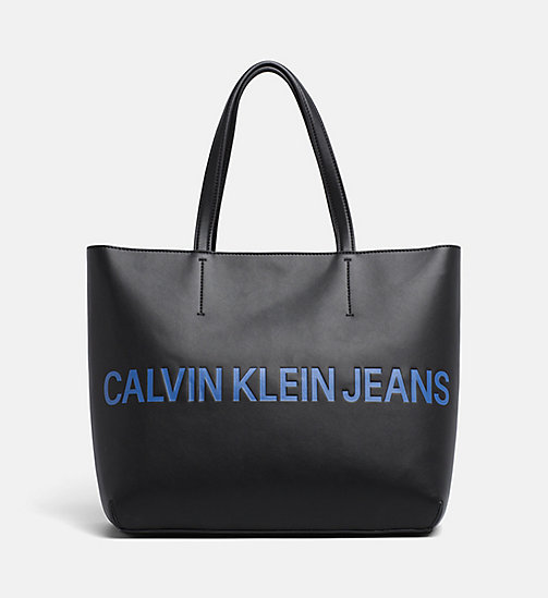 CALVIN KLEIN JEANS Logo Tote Bag - BLACK - CALVIN KLEIN JEANS PACK YOUR BAG - main image