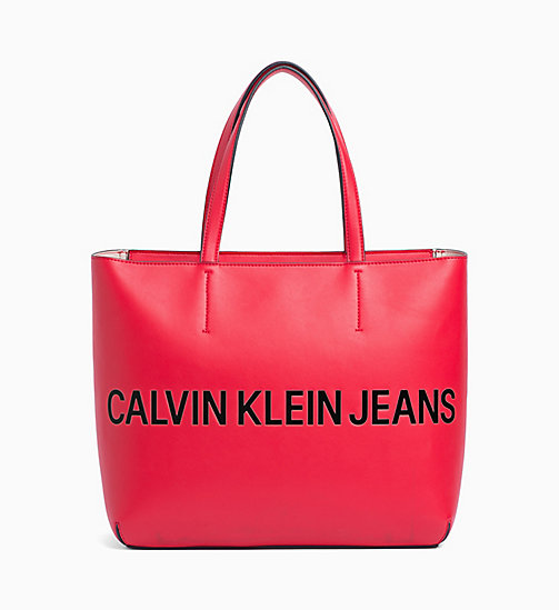 CALVIN KLEIN JEANS Logo Tote-Bag - SCARLET - CALVIN KLEIN JEANS PACK YOUR BAG - main image