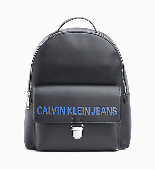 CALVIN KLEIN JEANS Logo Backpack - BLACK - CALVIN KLEIN JEANS PACK YOUR BAG - main image