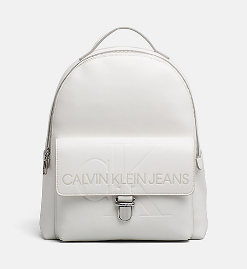 CALVIN KLEIN JEANS Logo Backpack - COATED WHITE - CALVIN KLEIN JEANS PACK YOUR BAG - main image