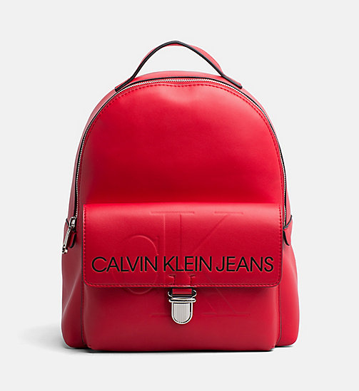 CALVIN KLEIN JEANS Logo Backpack - SCARLET - CALVIN KLEIN JEANS PACK YOUR BAG - main image