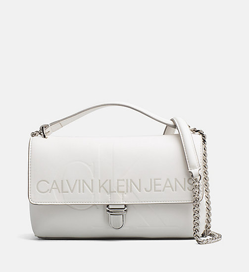 CALVIN KLEIN JEANS Logo Flap Crossover - COATED WHITE - CALVIN KLEIN JEANS PACK YOUR BAG - main image