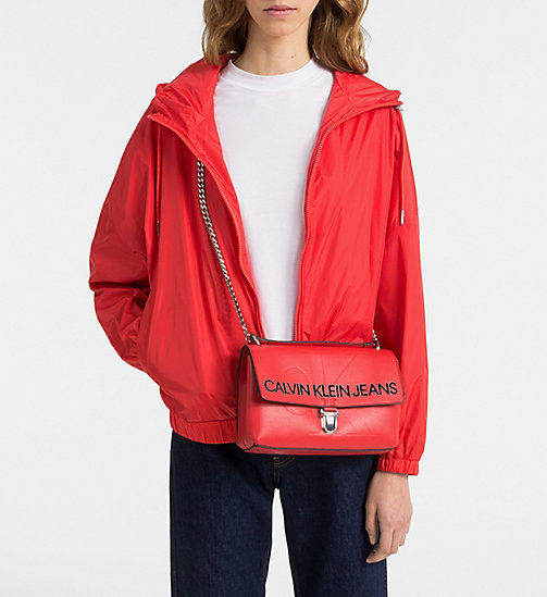 CALVIN KLEIN JEANS Logo Flap Crossover - SCARLET -  PACK YOUR BAG - detail image 1