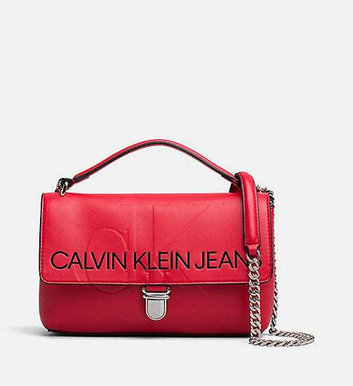 CALVIN KLEIN JEANS Logo Flap Crossover - SCARLET -  PACK YOUR BAG - main image