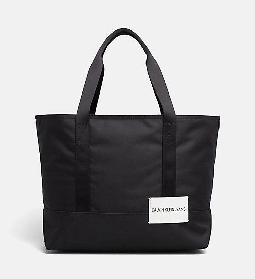 CALVIN KLEIN JEANS Medium Tote Bag - BLACK - CALVIN KLEIN JEANS HIS AND HERS - main image