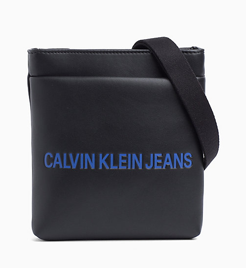 CALVIN KLEIN JEANS Logo Micro Flat Cross Body Bag - BLACK - CALVIN KLEIN JEANS PACK YOUR BAG - main image