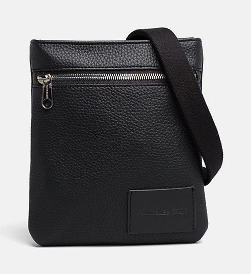 CALVIN KLEIN JEANS Micro Flat Cross Body Bag - BLACK - CALVIN KLEIN JEANS SHOES & ACCESSORIES - main image