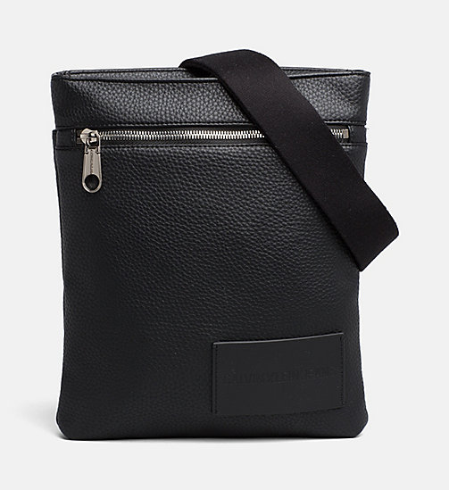 CALVIN KLEIN JEANS Flat Cross Body Bag - BLACK - CALVIN KLEIN JEANS SHOES & ACCESSORIES - main image