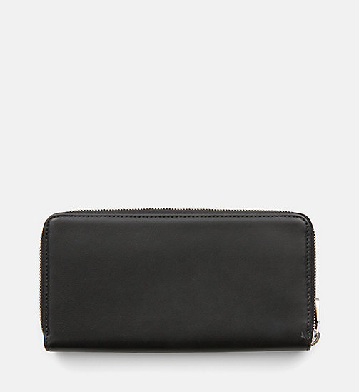 CALVIN KLEIN JEANS Leather Zip-Around Wallet - BLACK - CALVIN KLEIN JEANS PACK YOUR BAG - detail image 1