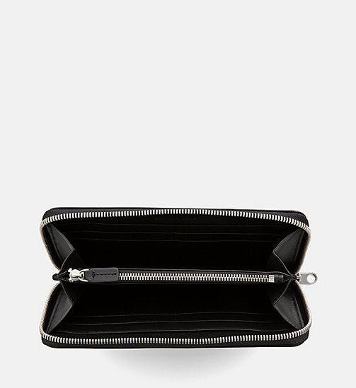 CALVIN KLEIN JEANS Leather Zip-Around Wallet - BLACK - CALVIN KLEIN JEANS WOMEN - detail image 1