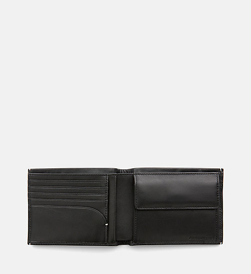 CALVIN KLEIN JEANS Leather Wallet - BLACK - CALVIN KLEIN JEANS WALLETS & SMALL ACCESSORIES - detail image 1
