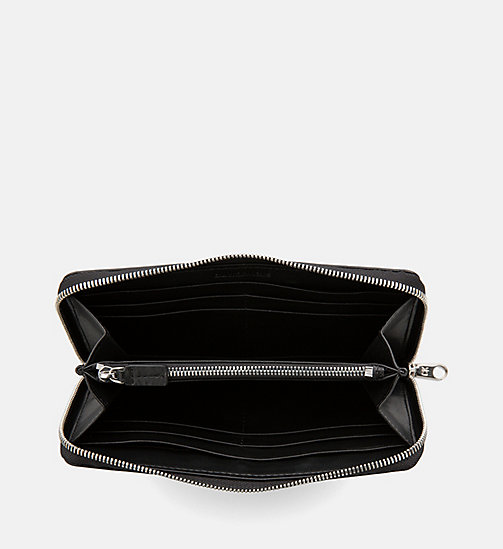 CALVIN KLEIN JEANS Zip-Around Wallet - BLACK - CALVIN KLEIN JEANS PACK YOUR BAG - detail image 1