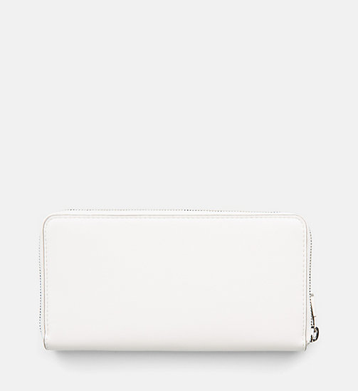 CALVIN KLEIN JEANS Zip-Around Wallet - COATED WHITE - CALVIN KLEIN JEANS WALLETS & SMALL ACCESSORIES - detail image 1
