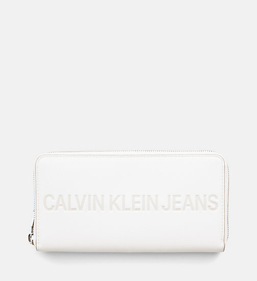 CALVIN KLEIN JEANS Zip-Around Wallet - COATED WHITE - CALVIN KLEIN JEANS WALLETS & SMALL ACCESSORIES - main image