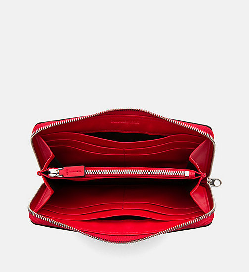 CALVIN KLEIN JEANS Zip-Around Wallet - SCARLET - CALVIN KLEIN JEANS PACK YOUR BAG - detail image 1