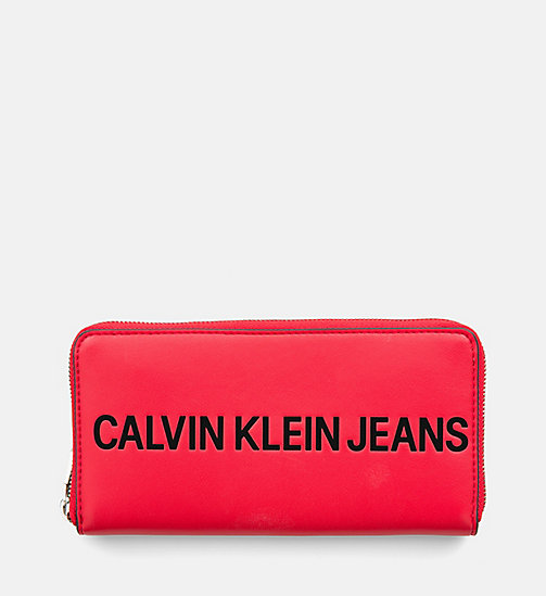 CALVIN KLEIN JEANS Zip-Around Wallet - SCARLET - CALVIN KLEIN JEANS PACK YOUR BAG - main image
