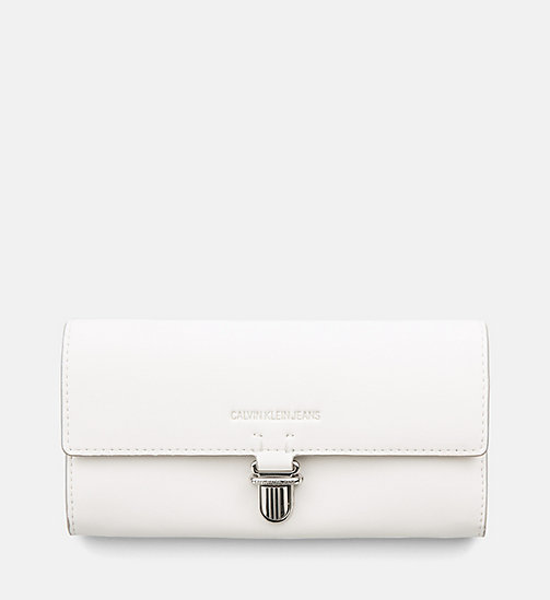 CALVIN KLEIN JEANS Long Fold Wallet - COATED WHITE - CALVIN KLEIN JEANS PACK YOUR BAG - main image