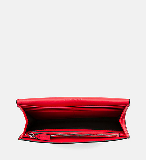 CALVIN KLEIN JEANS Long Fold Wallet - SCARLET - CALVIN KLEIN JEANS PACK YOUR BAG - detail image 1