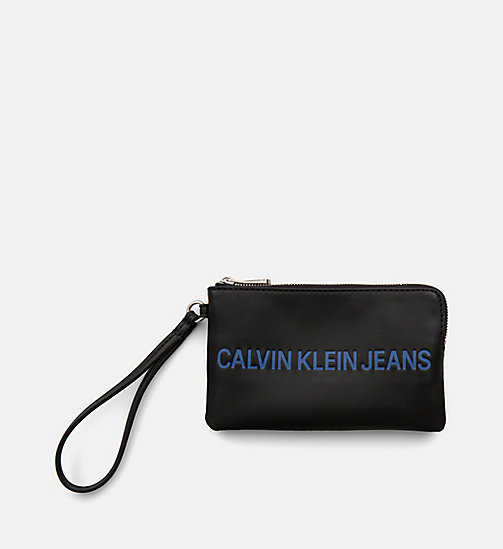 CALVIN KLEIN JEANS Mini Wristlet Coin Pouch - BLACK - CALVIN KLEIN JEANS PACK YOUR BAG - main image
