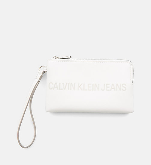 CALVIN KLEIN JEANS Mini Wristlet Coin Pouch - COATED WHITE - CALVIN KLEIN JEANS PACK YOUR BAG - main image