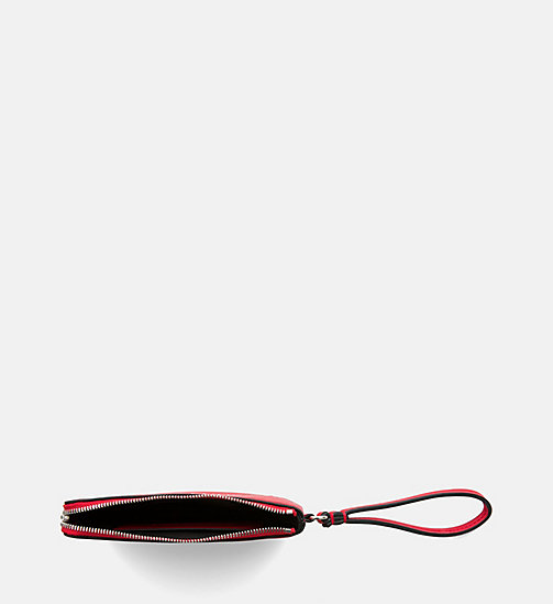 CALVIN KLEIN JEANS Mini Wristlet Coin Pouch - SCARLET - CALVIN KLEIN JEANS PACK YOUR BAG - detail image 1