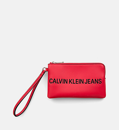 CALVIN KLEIN JEANS Mini Wristlet Coin Pouch - SCARLET - CALVIN KLEIN JEANS PACK YOUR BAG - main image