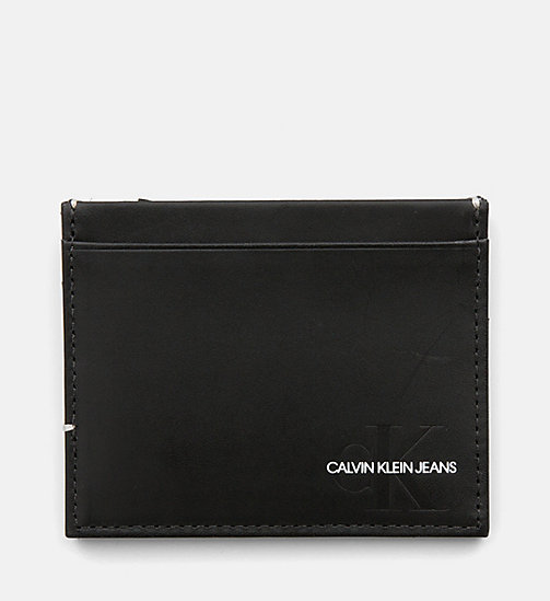 CALVIN KLEIN JEANS Leather Cardholder - BLACK - CALVIN KLEIN JEANS WALLETS & SMALL ACCESSORIES - detail image 1