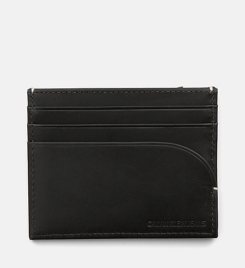 CALVIN KLEIN JEANS Leather Cardholder - BLACK - CALVIN KLEIN JEANS WALLETS & SMALL ACCESSORIES - main image