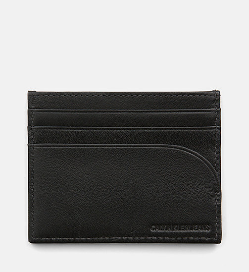 CALVIN KLEIN JEANS Leather Cardholder - BLACK - CALVIN KLEIN JEANS PACK YOUR BAG - detail image 1