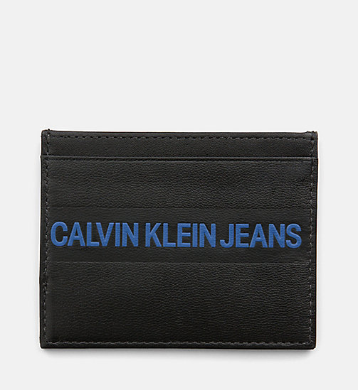 CALVIN KLEIN JEANS Leather Cardholder - BLACK - CALVIN KLEIN JEANS PACK YOUR BAG - main image
