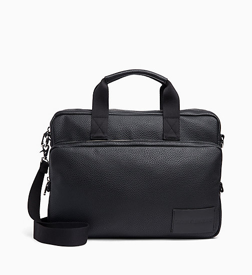 CALVIN KLEIN JEANS Business Messenger Bag - BLACK - CALVIN KLEIN JEANS MESSENGER BAGS - main image