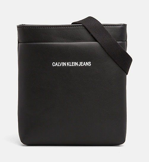 CALVIN KLEIN JEANS Micro Flat Cross Body Bag - BLACK - CALVIN KLEIN JEANS The New Off-Duty - main image