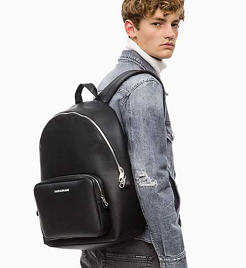 CALVIN KLEIN JEANS Large Round Backpack - BLACK - CALVIN KLEIN JEANS BACKPACKS - detail image 1