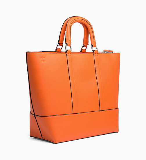 CALVIN KLEIN JEANS Medium Tote Bag - ORANGE TIGER - CALVIN KLEIN JEANS TOTE BAGS - detail image 1